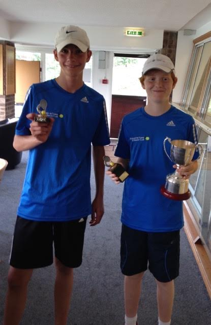 Boys 14s - Matt Smith (l) and Charlie Barnett (r) Champion