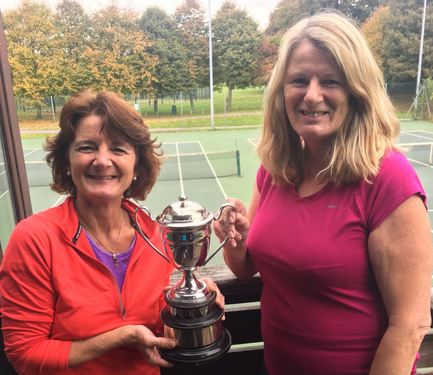 Ladies Doubles Champions - Sally Dinham-Scott (l) and Ros Clark (r)